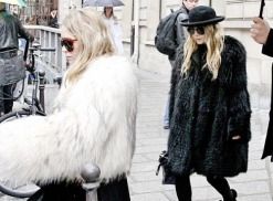 Mary Kate and Ashley Olsen shopping together in Paris.