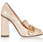 gucci-gold-cracked-leather-fringed-pumps